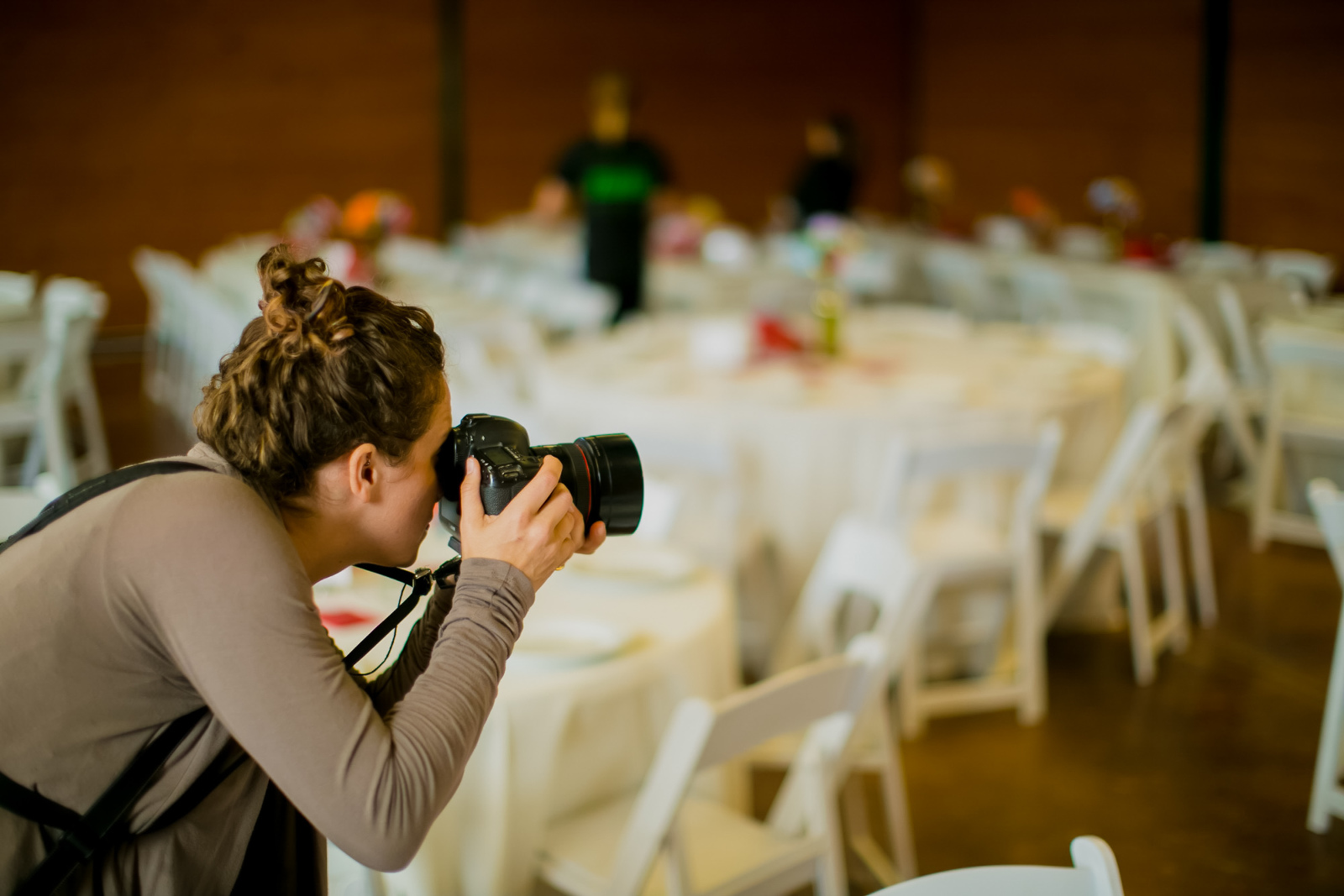 Shooting a wedding reception.